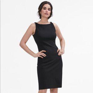 MM Lafleur Lydia black sheath dress